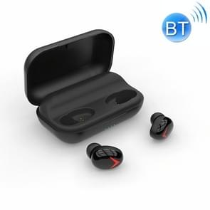 DFA8 TWS Bluetooth 5 0 Touch zweetbestendig draadloze Bluetooth sport oortelefoon met Oplaaddoos  ondersteuning SIRI & Call & Power Bank (zwart)