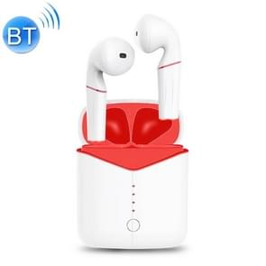 P20 Bluetooth 5 0 Smart Touch Bluetooth-oortelefoon met Oplaaddoos  ondersteuning voor dubbele oortelefoon gesprekken & gesproken aanwijzingen & SIRI & Oplaaddoos draadloos opladen (rood)