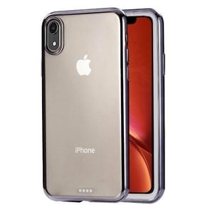 Ultra-dunne galvaniseren TPU beschermhoes voor iPhone XR(Black)