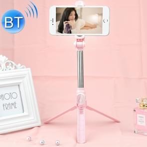 XT10 multifunctionele mobiele live-uitzending Bluetooth zelfontspanner Pole statief (roze)