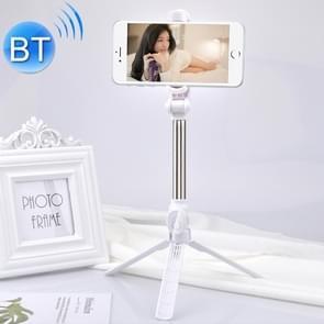 XT10 multifunctionele mobiele live-uitzending Bluetooth zelfontspanner Pole statief (wit)