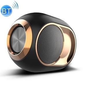 X6 TWS outdoor waterdichte Bass draadloze Bluetooth Speaker  ondersteuning hands-free/USB/AUX/TF-kaart (zwart)