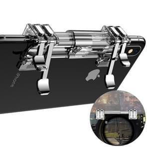 ROCK Eat Chicken Mobile Phone Trigger Shooting Controller Button Handle Retractable Shooting Game Controller (Transparent)