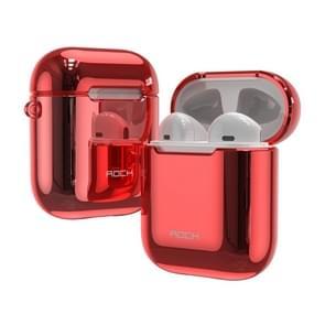 ROCK RPC1483 universele TPU stof-proof anti-vingerafdruk galvaniseren draadloze Bluetooth oortelefoon beschermhoes voor Apple luchtpods 1/2 (rood)