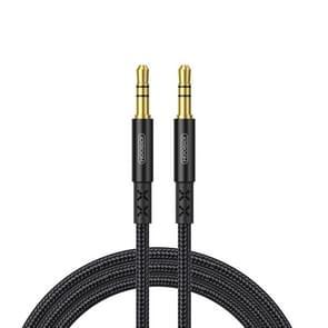 JOYROOM SY-10A1 AUX audio kabel 3.5 mm male naar male plug Jack stereo audio Wire AUX auto stereo audiokabel  kabel lengte: 1.0 m (zwart)