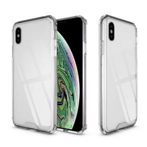 Acryl + TPU Shockproof transparant Armor Case voor iPhone XS Max (transparant)