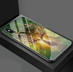 The King of the Forest Elk Pattern Glass Case for iPhone XS / X