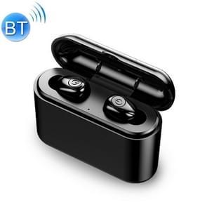 X8-TWS V 5.0 draadloze stereo Bluetooth-headset met Oplaadetui  ondersteuning telefoon opladen (zwart)