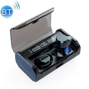G06 TWS ruisonderdrukking V 5.0 draadloze stereo Bluetooth-headset met Oplaadetui en LED-display (zwart)