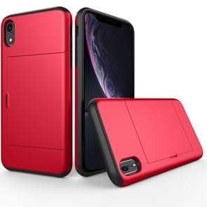 Shockproof Rugged Armor Protective Case for  iPhone XR , with Card Slot(Red)