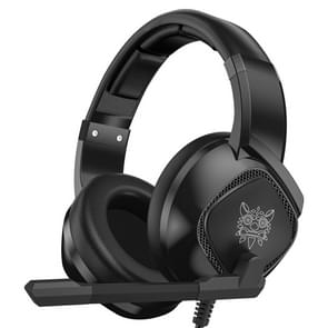 ONIKUMA K19 enkele plug licht instelbare gaming hoofdtelefoon met microfoon (zwart)