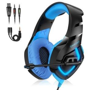 ONIKUMA K1-B Adjustable PC Gaming Headphone with Microphone(Black Blue)