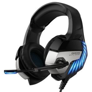 ONIKUMA K5 Pro Adjustable PC Gaming Headphone with Microphone, Upgrade Version(Black Blue)