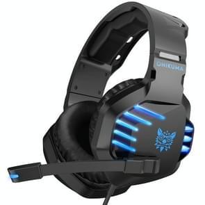 ONIKUMA K17 enkele plug licht instelbare gaming hoofdtelefoon met microfoon (zwart blauw)