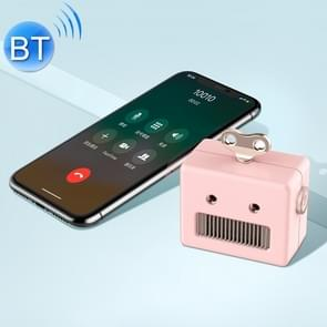 3life-307 3W 5V Mini Robot Retro Draadloze bluetoothspreker (roze)