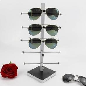 Zwart wit houten bril display frame zonnebril rack display stand