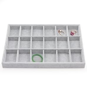 18 grids Flanel armband ring ketting display rack sieraden opberglade