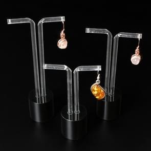 3 PCS Acrylic Ear Stud Earrings Jewelry Display Storage Rack