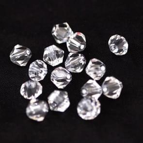 1000pcs acryl transparant Crystal-achtige Rhombus losse parels (wit 6mm)
