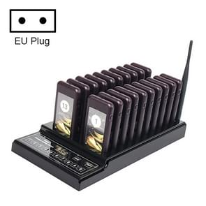 QC100 999 Channel Restaurant Wireless Paging Queuing Calling System met 20 Call Coaster Pagers  EU Plug