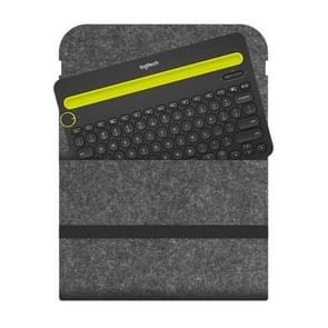 Portable Felt Wireless Bluetooth Keyboard Storage Bag Dust-proof Bag for Logitech K480 Keyboard, with Magic Stick(Dark Gray)