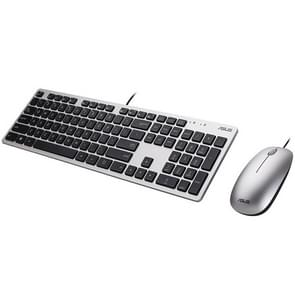 ASUS EU300C USB Wired Thin Mute Keyboard + Ergonomic 1000DPI Optical Mouse Set, Mouse Cable Length: 1m
