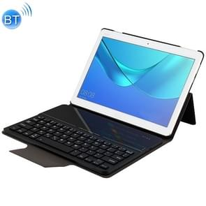 HW2031 Detachable Plastic Bluetooth Keyboard + Lambskin Texture PU Leather Protective Cover for Huawei Youth Editon MediaPad M3 Lite 10.1, with Bracket(Black)