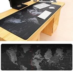 Extended Large Anti-Slip World Map Pattern Soft Rubber Smooth Cloth Surface Game Mouse Pad Keyboard Mat, Size: 70 x 30cm