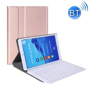 A0M5 Detachable Bluetooth Keyboard + Ultrathin Horizontal Flip Leather Case for Huawei MediaPad M5 & Honor Tab 5 8 inch, with Holder(Rose Gold)