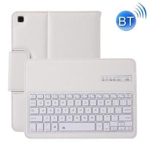 SA720 afneembaar Bluetooth-toetsenbord + Litchi textuur PU lederen beschermhoes met houder voor Galaxy tab S5e 10 5 T720/T725 (wit)