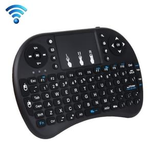 I8 2 4 GHz Fly Air Mouse Wireless Mini-toetsenbord met ingebouwde USB-ontvanger voor Android TV Box / PC(Zwart)