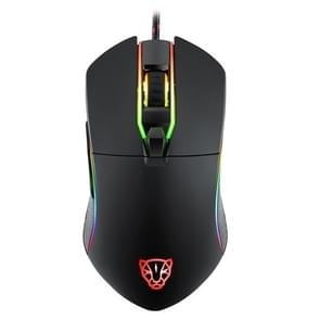 MOTOSPEED V30 professionele Gaming muis USB bedraad Optical Mouse verstelbare 3500DPI resolutie RGB LED-verlichting (zwart)
