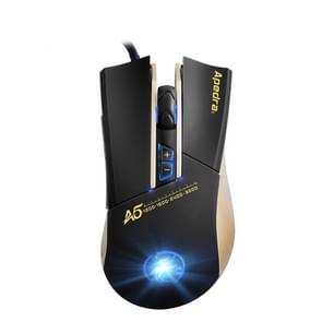 Apedra iMICE A5 nauwkeurige bedrade optische Gaming muis met LED verlichting  instelbare DPI niveaus tot 3200 DPI & 6 knoppen voor PC en Laptop (zwart)