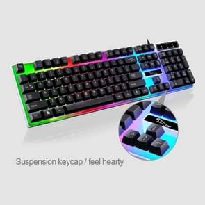 ZGB G21 104 Keys USB Wired Mechanical Colorful Backlight Office Computer Keyboard Gaming Keyboard(Black)