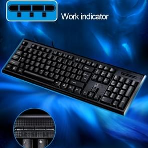 ZGB Q9 104 Keys USB Wired Grid Texture General Gaming Office Keyboard(Black)