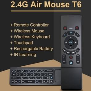 T6 Air Mouse 2.4GHz Wireless Keyboard Remote Controller with Touchpad & IR Learning for PC, Android TV Box / Smart TV, Multi-media Devices