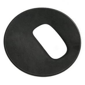 Microfiber Crazy Horse textuur circulaire waterdichte muismat (zwart)