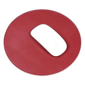 Microfiber Crazy Horse textuur circulaire waterdichte muismat (rood)