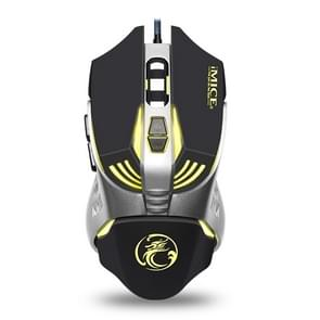 iMICE V5 USB 7 Buttons 4000 DPI Wired Optical Colorful Backlight Gaming Mouse for Computer PC Laptop (Black)