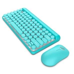 HXSJ L100 2.4GHz Ultrathin Wireless Keyboard Mouse Set (Blue)
