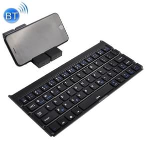 GK808 Ultra-thin Foldable Bluetooth V3.0 Keyboard, Built-in Holder, Support Android / iOS / Windows System(Black)