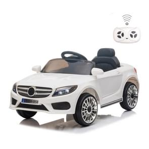 [Amerikaans pakhuis] LQ 12V Kids Double Drive 3 Speed 2 4 GHz afstandsbediening Ride On Car met LED-verlichting (Wit)