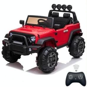 [US Warehouse] 12V Kids Ride On Car 2.4GHz Remote Control Double Drive SUV Off-Road Vehicle with MP3 & LED Lights (Red)
