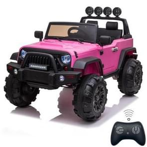 [US Warehouse] 12V Kids Ride On Car 2.4GHz Remote Control Double Drive SUV Off-Road Vehicle with MP3 & LED Lights (Pink)