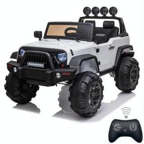 [US Warehouse] 12V Kids Ride On Car 2.4GHz Remote Control Double Drive SUV Off-Road Vehicle with MP3 & LED Lights (White)
