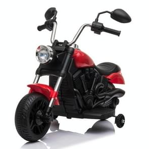 [US Warehouse] 6V Kids Electric Ride On Car Single Drive Motorcycle with Training Wheels (Red)