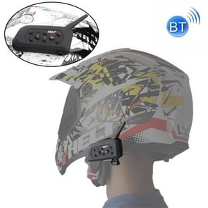 EJEAS V6 Pro 1200m IP65 Waterproof Motorcycle 2 Users Full Duplex Talking Bluetooth Intercom Multi-Interphone Headsets, Support Receive Calling & Listen Music & Noise Reduction