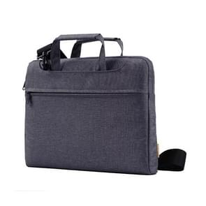 POFOKO A500 13 inch Portable Business Casual Polyester Multi-function Laptop Bag with Shoulder Strap(Black)