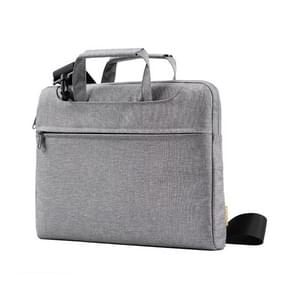 POFOKO A500 14 inch Portable Business Casual Polyester Multi-function Laptop Bag with Shoulder Strap(Grey)