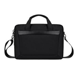 DJ06 Oxford Cloth Waterproof Wear-resistant Portable Expandable Laptop Bag for 14.1 inch Laptops, with Detachable Shoulder Strap(Black)